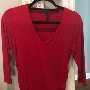 PEA IN THE POD Isabella Oliver red maternity top